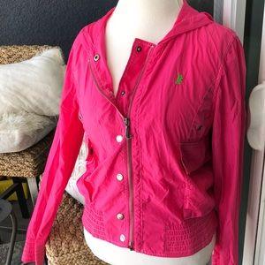 Juicy Couture hot pink rain jacket